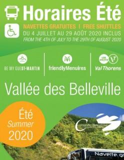 Horaires des bus vallée des Belleville et liaisons Moutiers ETE 2020