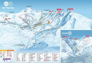 Plan des pistes Val Thorens Orelle