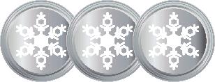 3 Snowflakes Silver