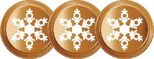 3 Snowflakes Bronze