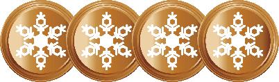 4 Snowflakes Bronze