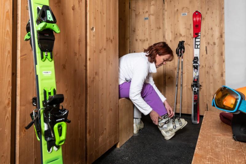 Ski room - ©Residence Chamois D'Or
