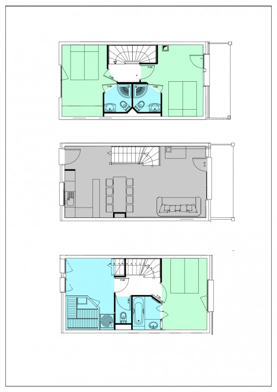 Apartment 4 rooms 6 persons with Sauna © Residence L'Oxalys