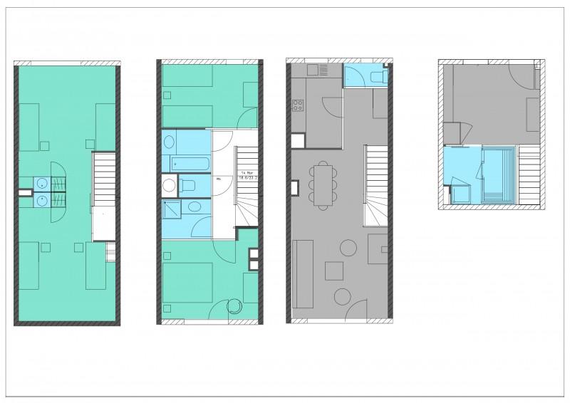 Appartement 4 pièces 8 personnes avec Sauna © Résidence Montagnettes Lombarde