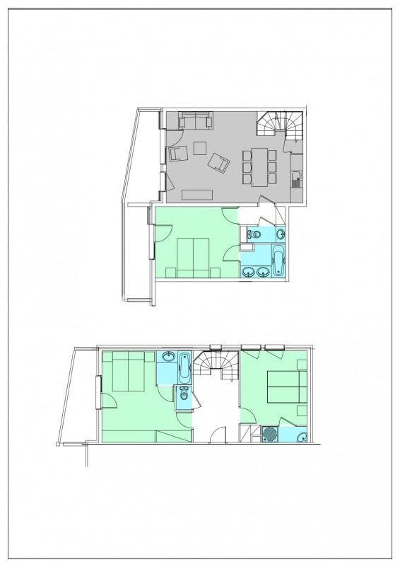 Appartement 4 pièces Duplex 6 personnes © Résidence L'Oxalys