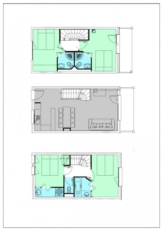 Appartement 5 pièces 8 personnes vue Est © Résidence L'Oxalys